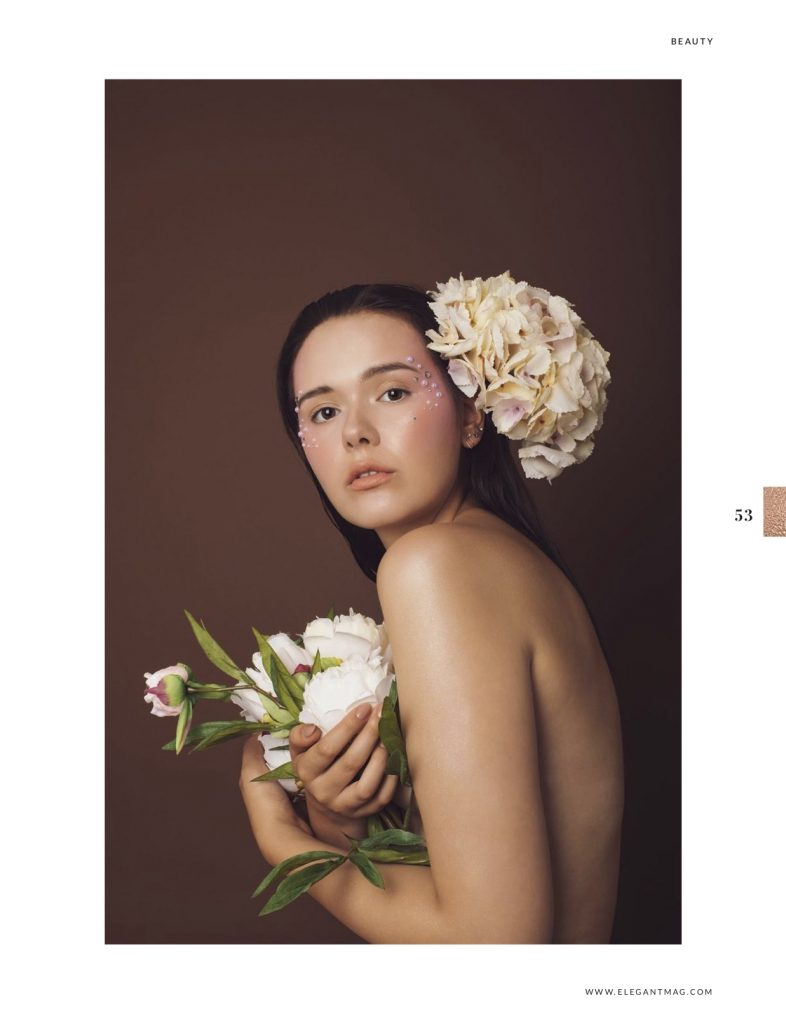 Becoming - beauty editorial published in Elegant Magazine