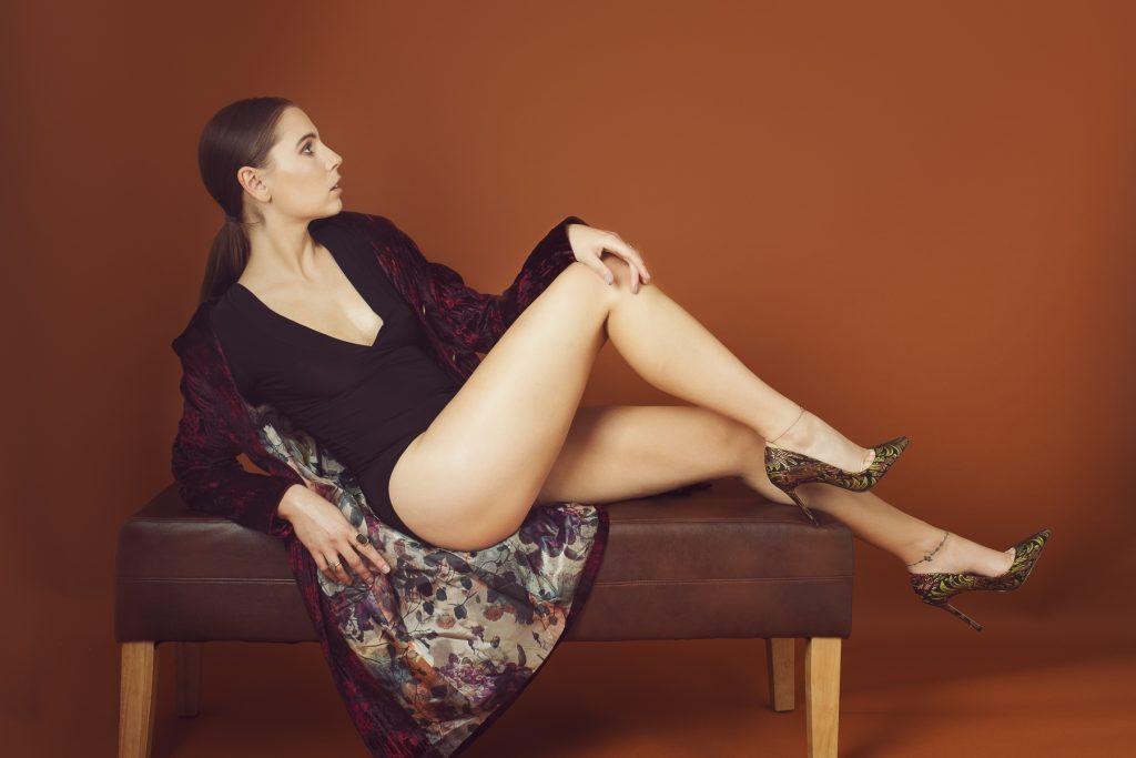 Fashion editorial glamour portrait by Renata Clarke