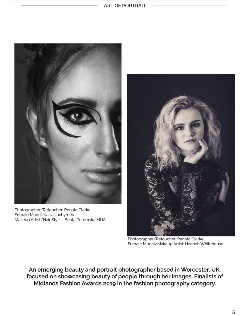 Portraits by Renata Clarke published in the Art of Portrait Magazine