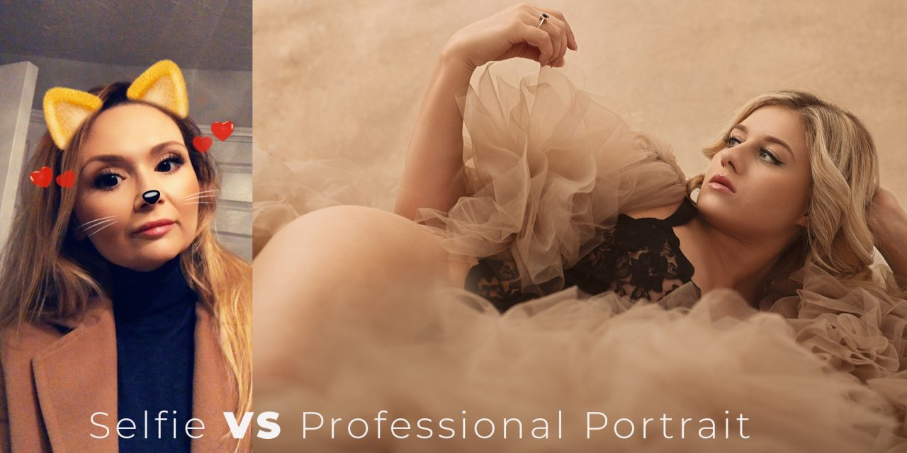 selfie versus professional portrait